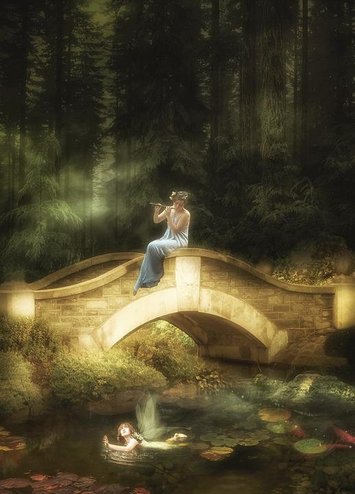 Background, Fantasy, Forest, Elves, Pond, Music, Relax