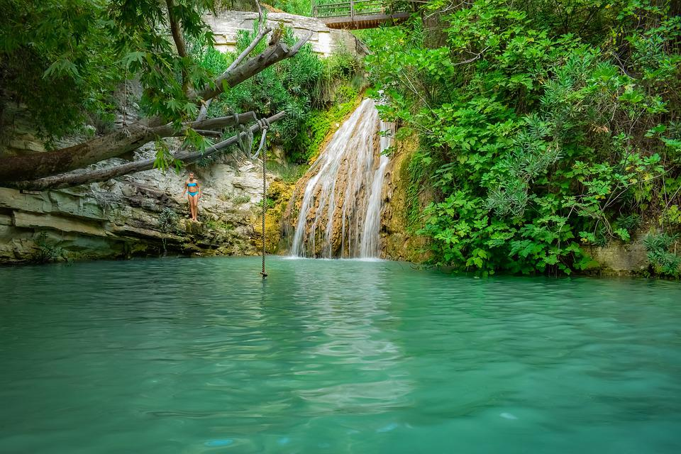 Waterfall, Pond, Nature, Water, Landscape, River
