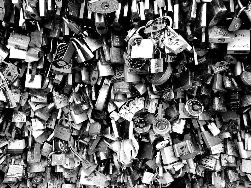 Padlock, Bridge Of Lovers, Paris, Pont Des Arts, Love