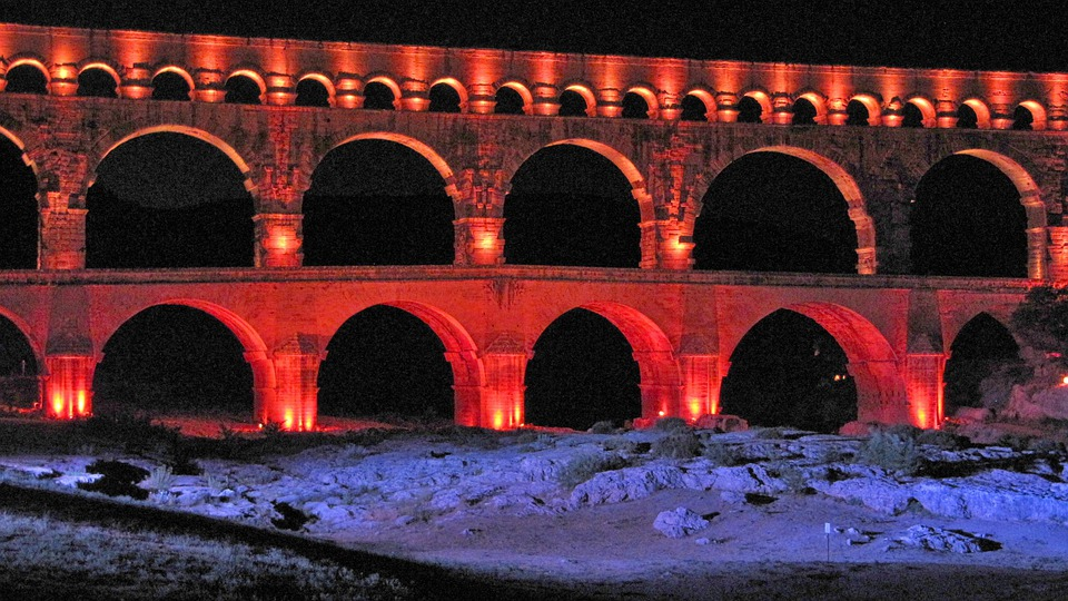 France, Pont Du Gard, Bridge, Aqaedukt