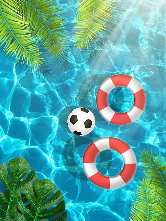 Pool, Summer, Pool Float, Swimming Pool, Water, Leaves