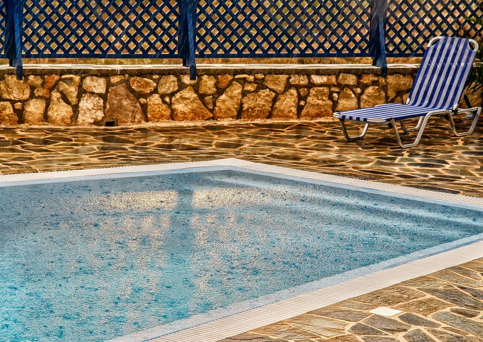 Nature, Rain, Pool, Sun Lounger, Swim, Refresh