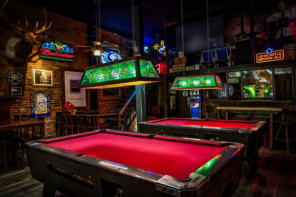 Billiards Pool Tables Bar Pub Lights Signs Neon