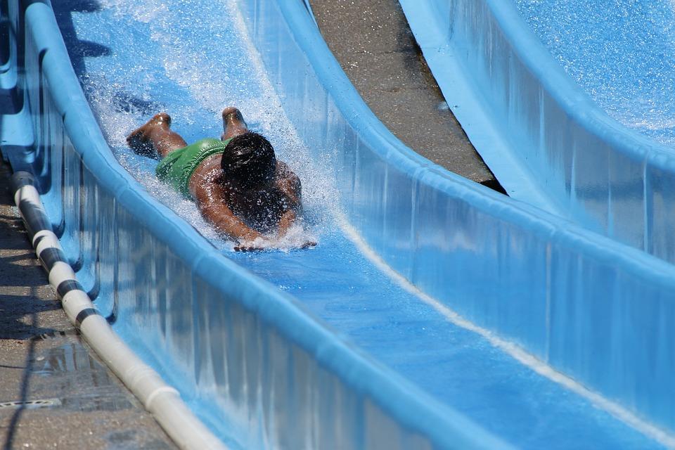 Blue, Pool, Slide, Holidays, Rest, Water, Tourism