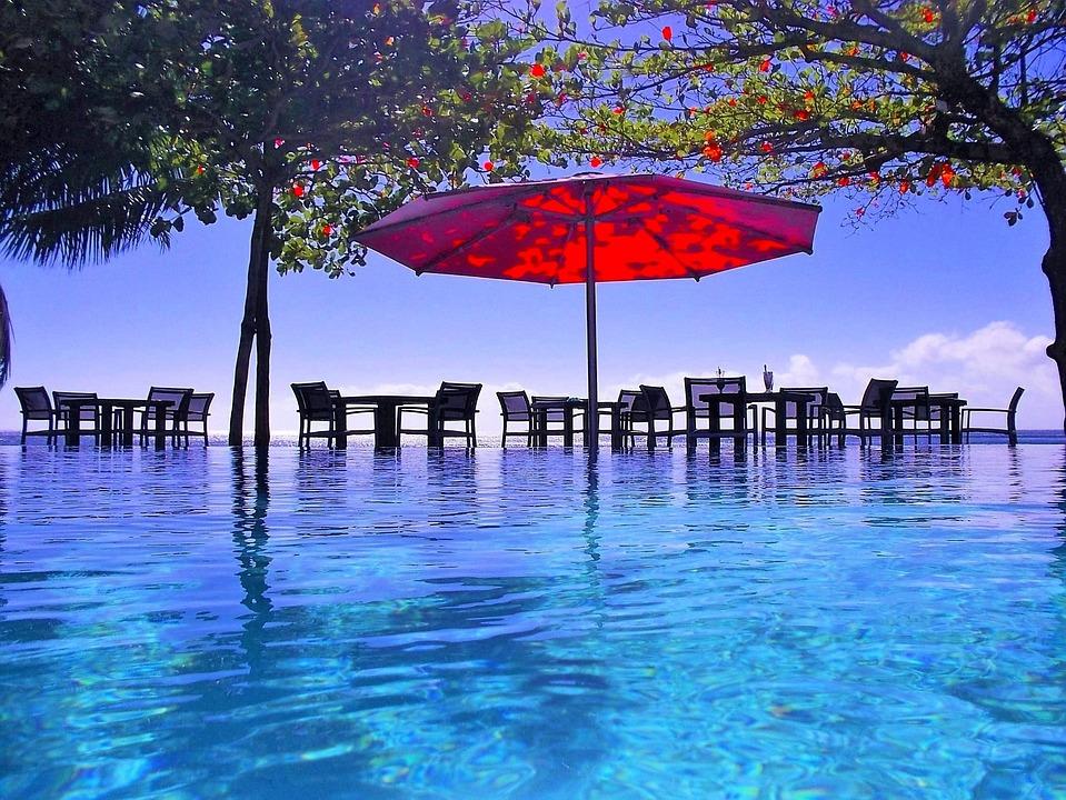Pool, Umbrella, Tropical, Vacation, Summer, Swimming