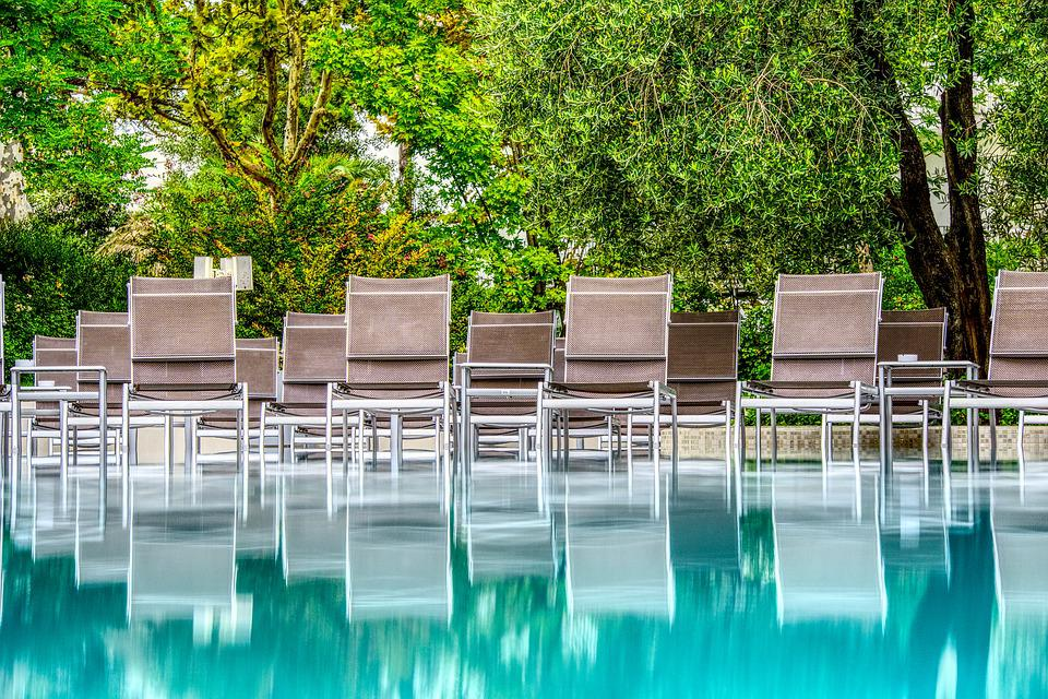 Pool, Water, Mirroring, Movement, Deck Chair, Relax