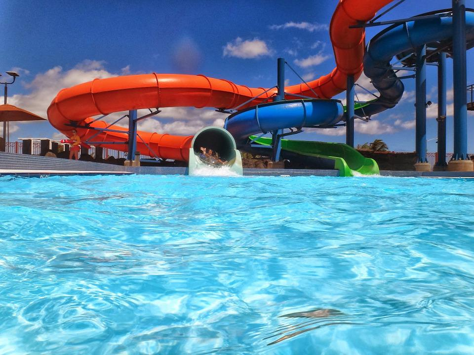 Waterslide, Waterpark, Aquapark, Pool, Water, Slide