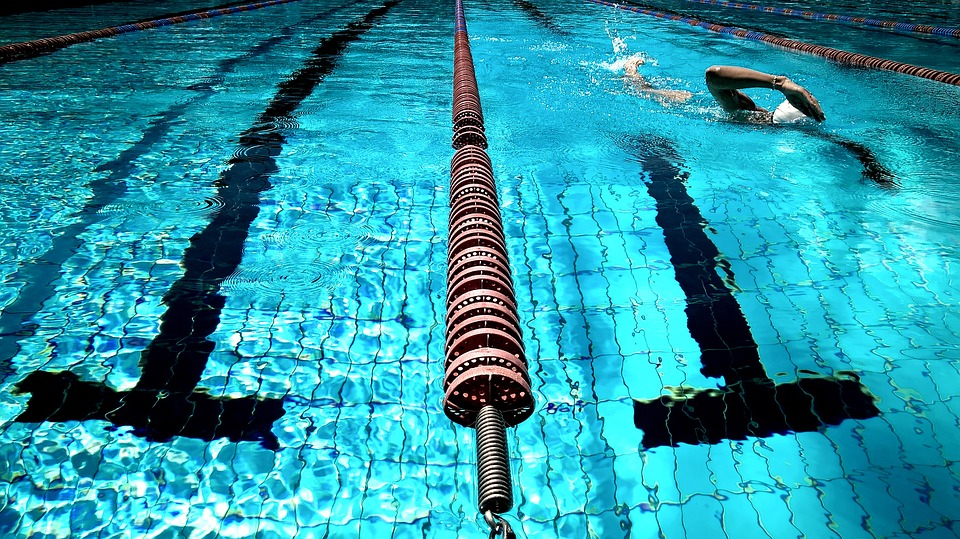 Swimming, Pool, Water, Blue, Athlete, Fitness, Exercise