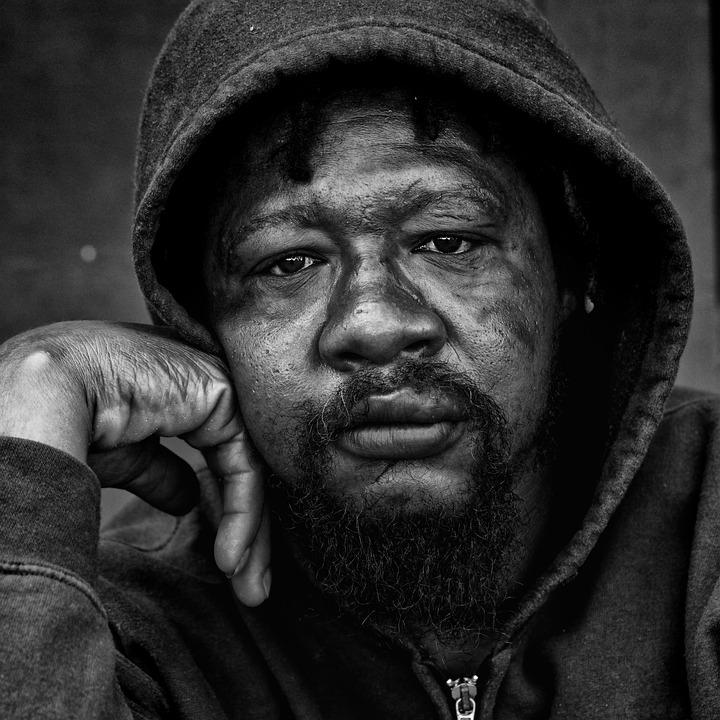 People, Portrait, Homeless, Male, Gaze, Poor