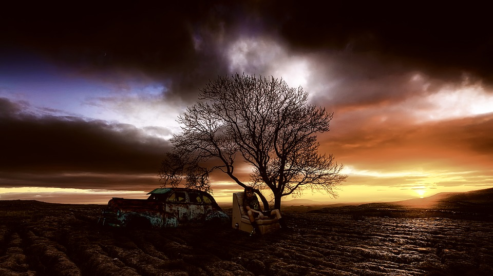 Sunset, Poverty, Poor, Homeless, One Tree, People