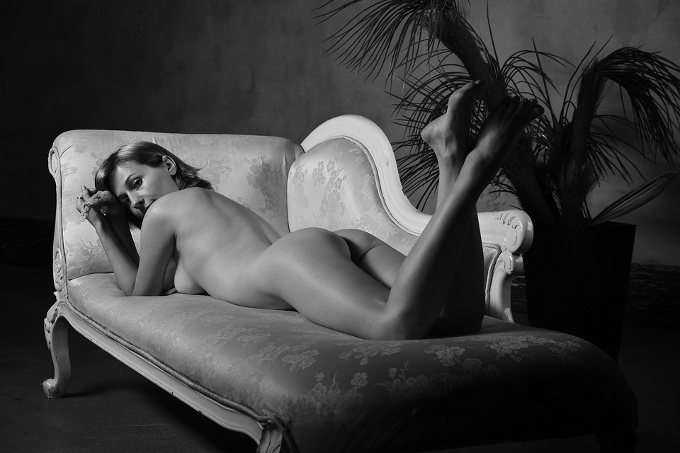 Nude, Spin, Popa, Buttocks, View, Woman, Bw, Sexy
