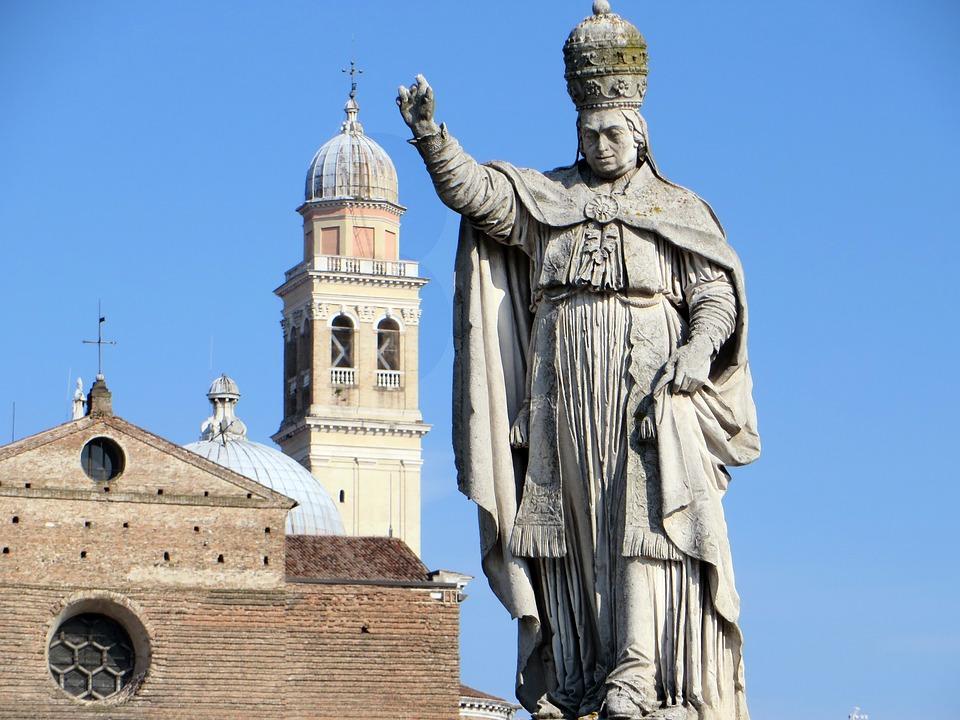 Italy, Padua, Holy Place, Pope, Statue, Basilica