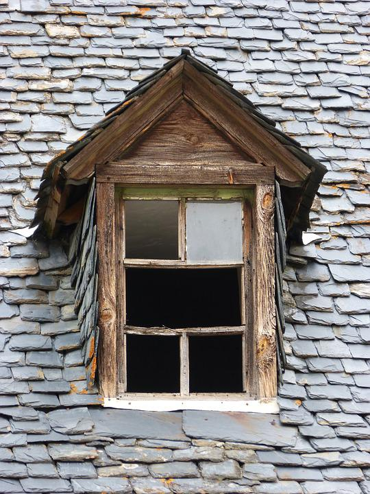Roof Window, Window, Slate Roof, Popular Architecture