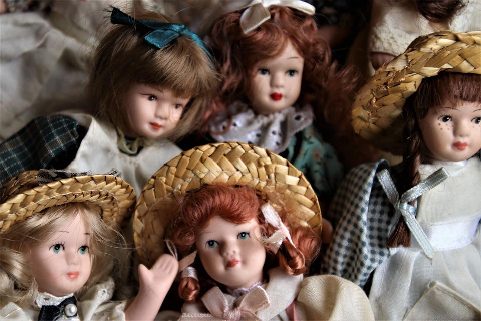 Porcelain Doll, Face, Hat, Retro, Charming, Hair
