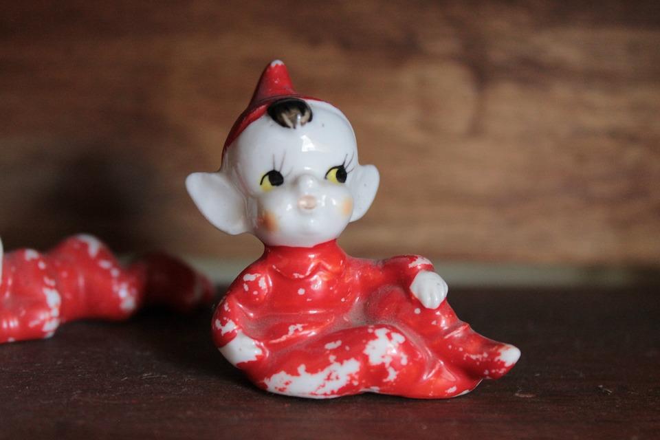 Elf, Porcelain, Gnome, Figurine