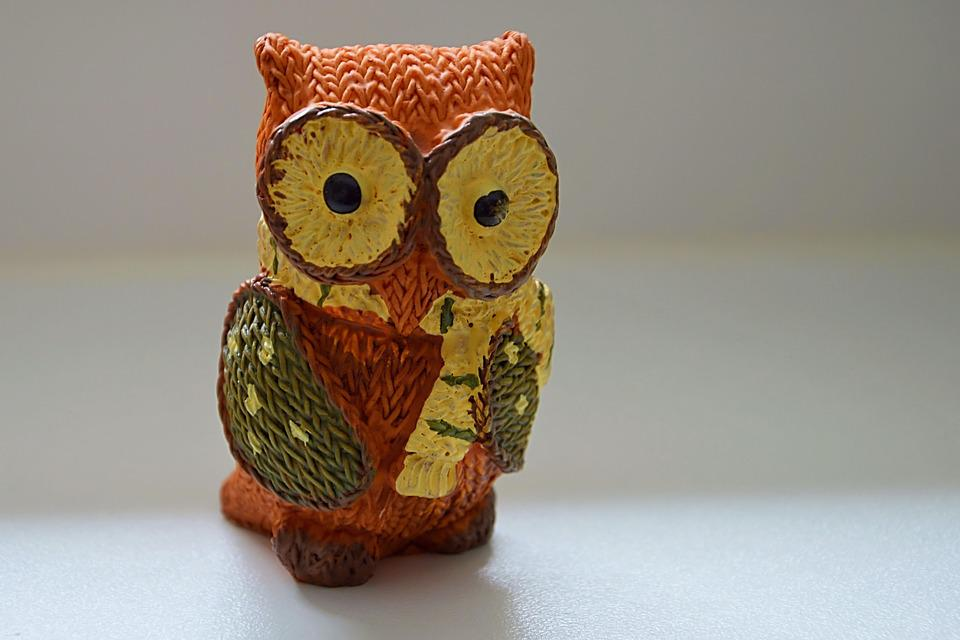 Fig, Porcelain Figurine, Owl, Decoration, Funny