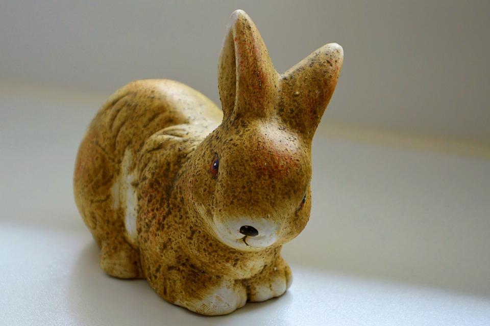 Fig, Porcelain Figurine, Hare, Decoration, Funny