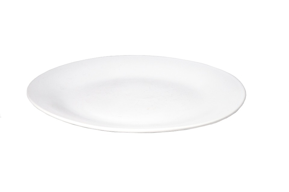 Plate, White, Porcelain, Tableware