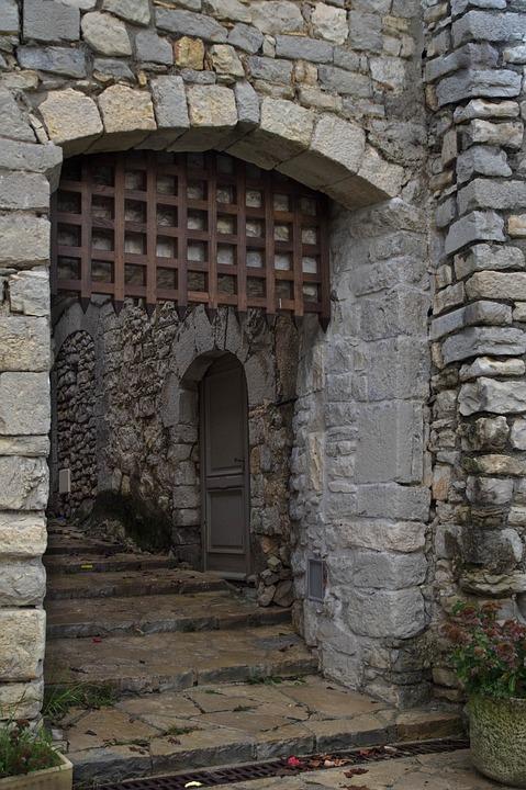 Herald, Village, Medieval, Porch, Staircase, Lane