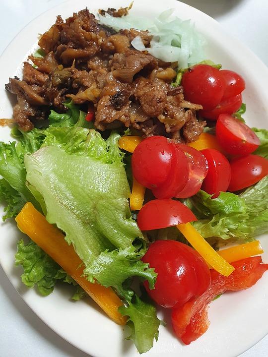 Pork, Bulgogi, Vegetables, Salad, Fresh Vegetables