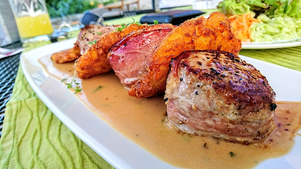 Meat, Dinner, Food, Meal, Plate, Pork, Juicy, Delicious