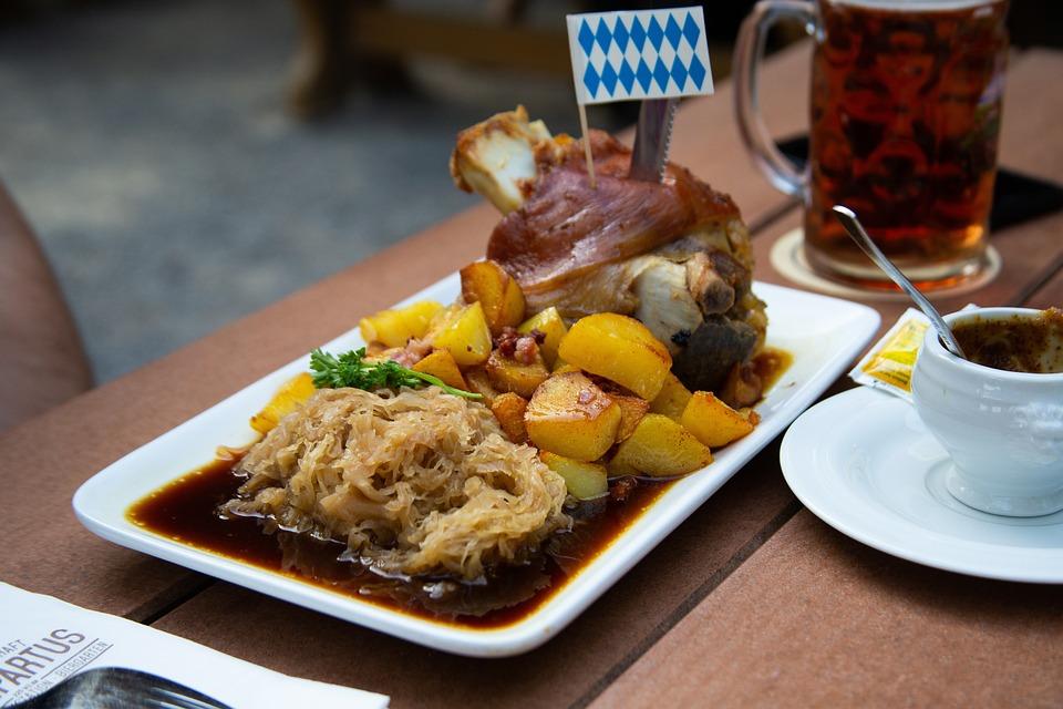 Meal, Roasted Pork Leg, Pork, Meat, Cuisine, Culinary