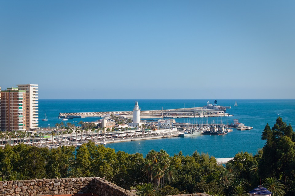 Malaga, Port, Andalucia, Spain, Harbour, Sea