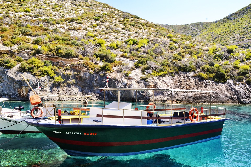 Beautiful Landscape, Boat, Port, Ionian, Turcoise