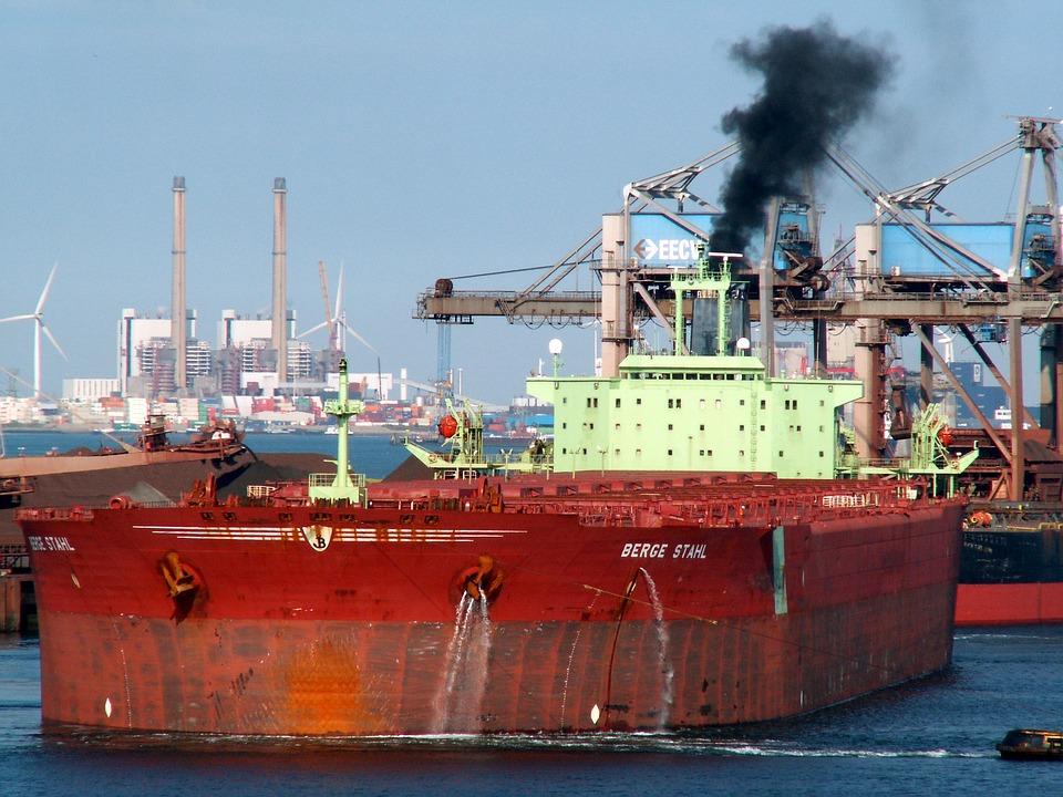 Berge Stahl, Port, Rotterdam, Ship, Terminal, Harbor
