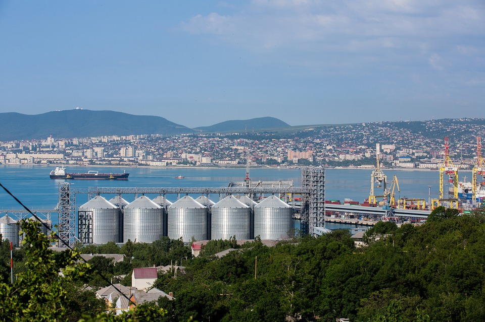 Novorossiysk, Sea, Black Sea, Port, City, Bay