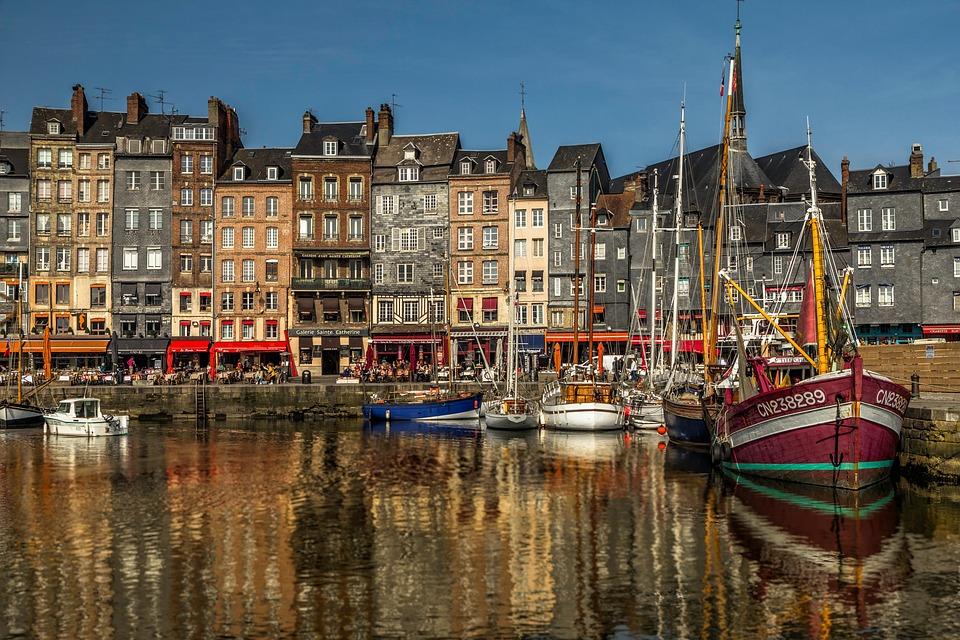Honfleur, Tourism, Port, Boat, Reflection, France