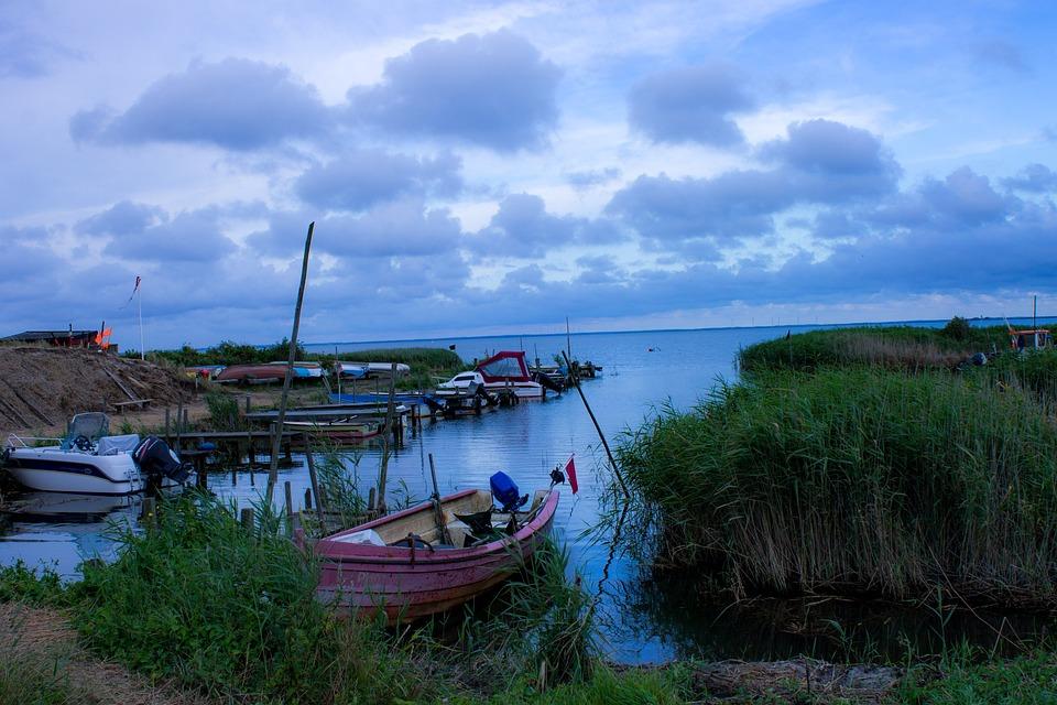 Denmark, Port, Boot, Boats, Port Motifs, Fish Boxes