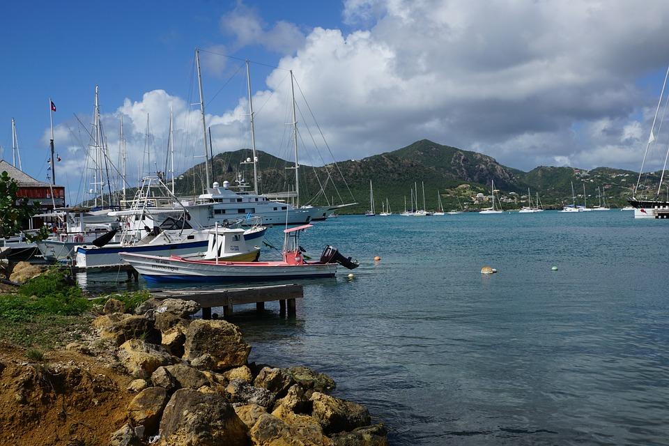 Antigua, Caribbean, Port, Boot, Sea, Water, Blue