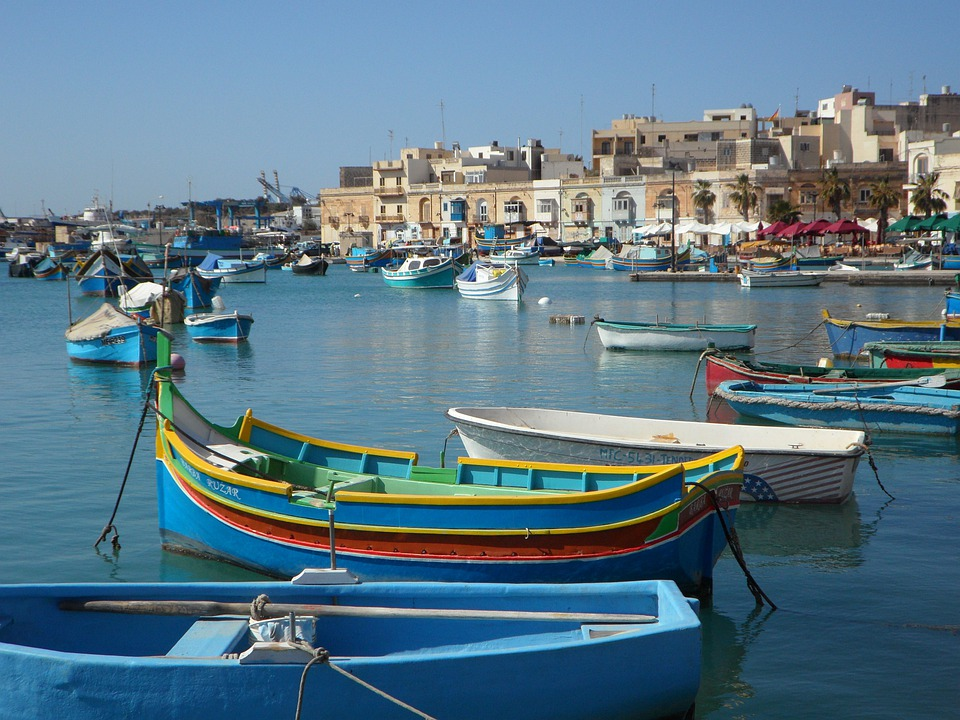 Fishing Village, Port, Boats, Fishing Boats, Colorful