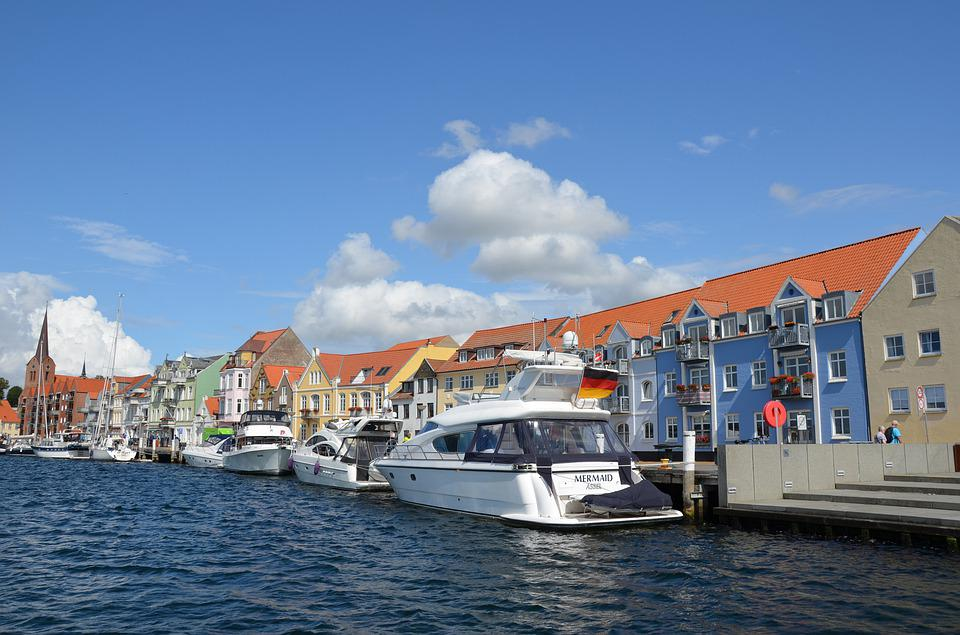Denmark, Sonderborg, Port, Boats, Yachts, Water, Sea