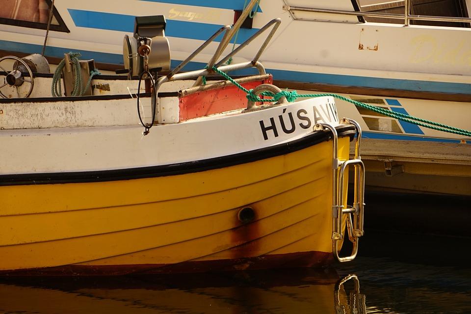 Fishing Boat, Port, Iceland, Husavik, Colorful