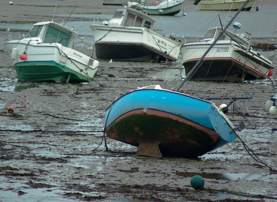 Port, Low Tide, Vase, Boats, Fishing Port, Anchorage