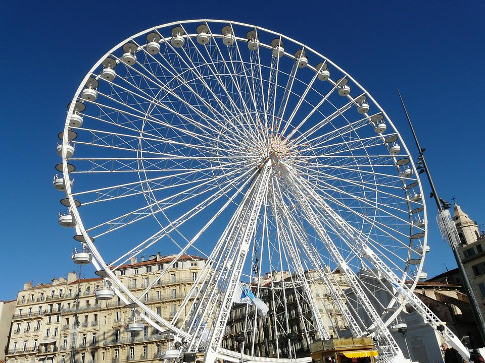 Marseille, Ferris Wheel, France, Port