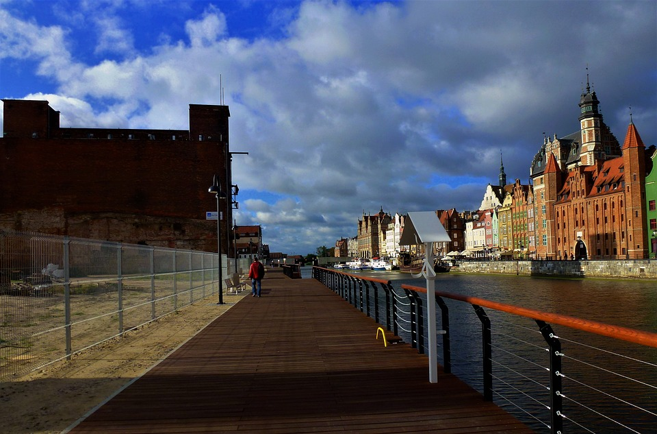 Architecture, Poland, Gdansk, Docks, Port, Channel