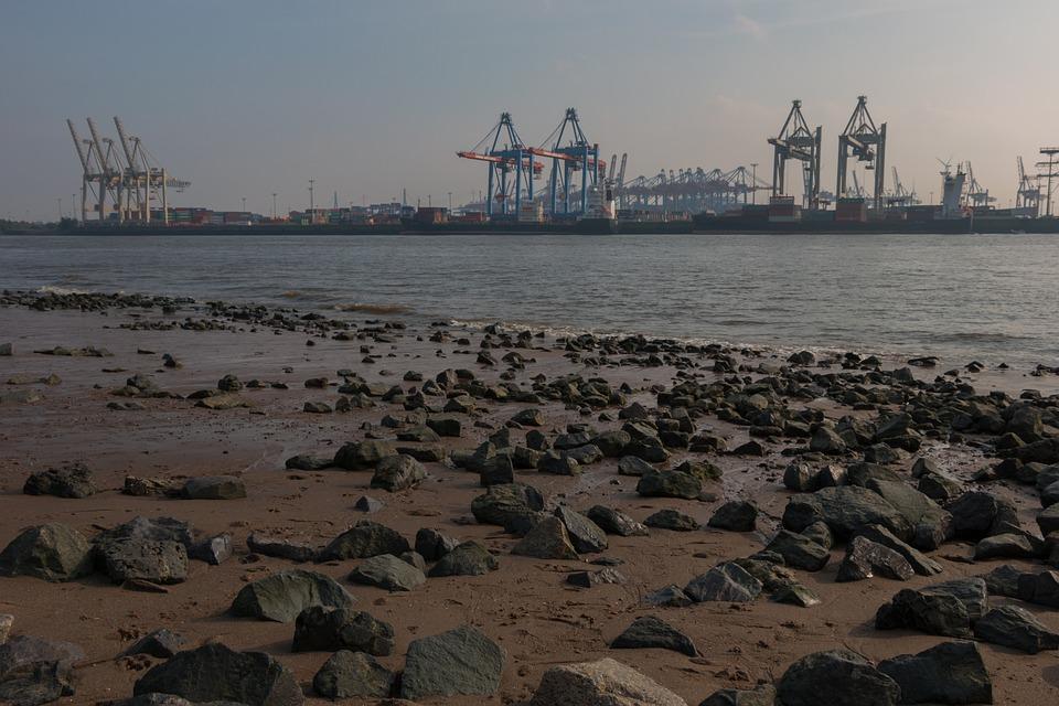 Elbe, Hamburg, Elbe Beach, Port, Water, Port City