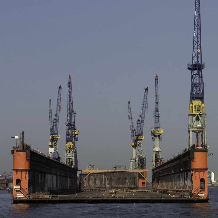 Floating Dock, Hamburg, Port