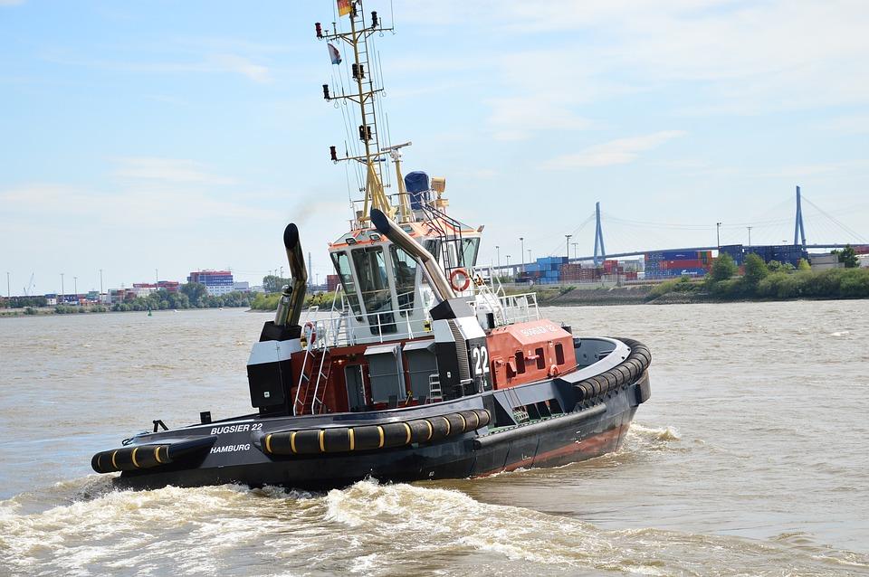 Tug, Port, Hamburg, Ship, Boat, Water