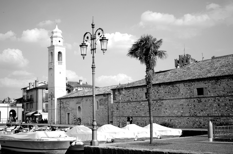 Town, Port, Boats, Lazise, Lake Garda, Lake, Harbor