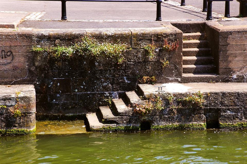 Steps, Harbour, Water, Sea, Coast, Port, Old