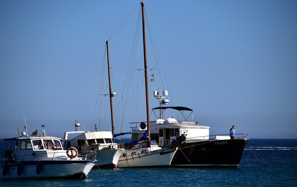 Boats, Sea, Holiday, Yacht, Port, Blue, Water, Luxury