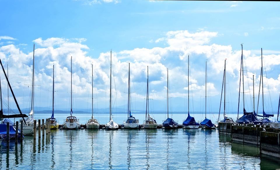 Sailing Boats, Port, Boats, Boat Masts, Masts, Lake