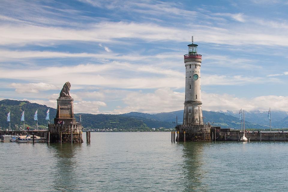 Lindau, Lake Constance, Port, Lighthouse