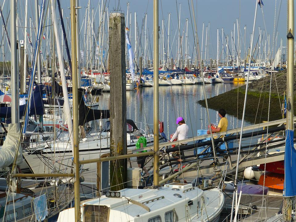 Port, Sailing Boats, Masts, North Sea, Vacations