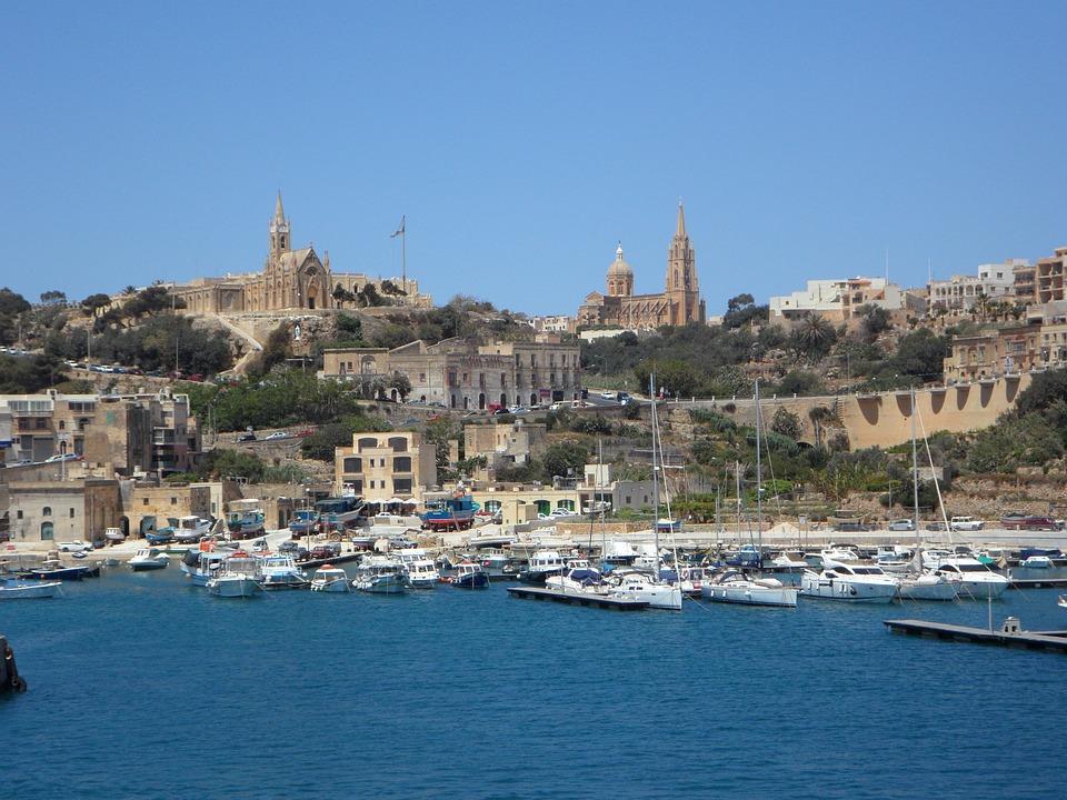 Gozo, Port, Pier, Island, Sea, Mediterranean, Holiday