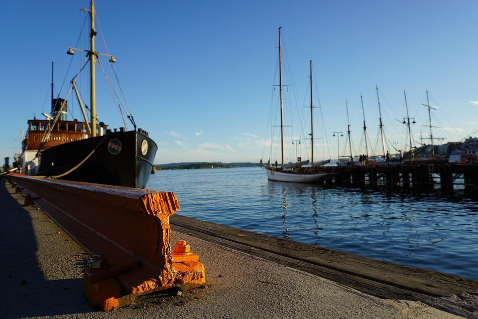 Norway, Oslo, Port, Ship